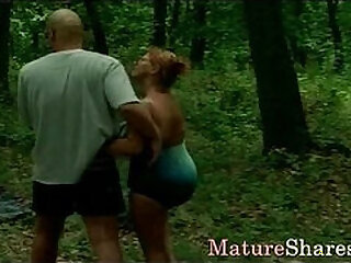 Moaning mature slut is penetrated