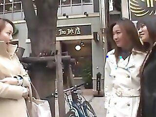 Japanese Lesbians kissing in