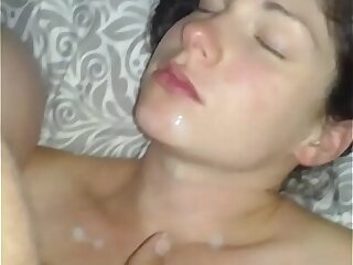 Wife squirting milk all over cock