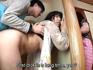 Subtitled Japanese risky sex with mother in law