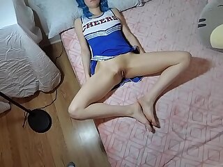 Cheerleader daughter plays secret game with him. ROLEPLAY