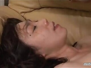 Milf With Hairy Pussy Riding On Young Guy Face And Cock for Facial On The Couch In T
