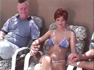 Short Hair Redhead Swinger 3some