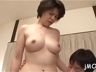 Stunning mature plays with a toy and gets cunt fucked