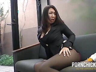 JAV Secretary fucked by her older boss More